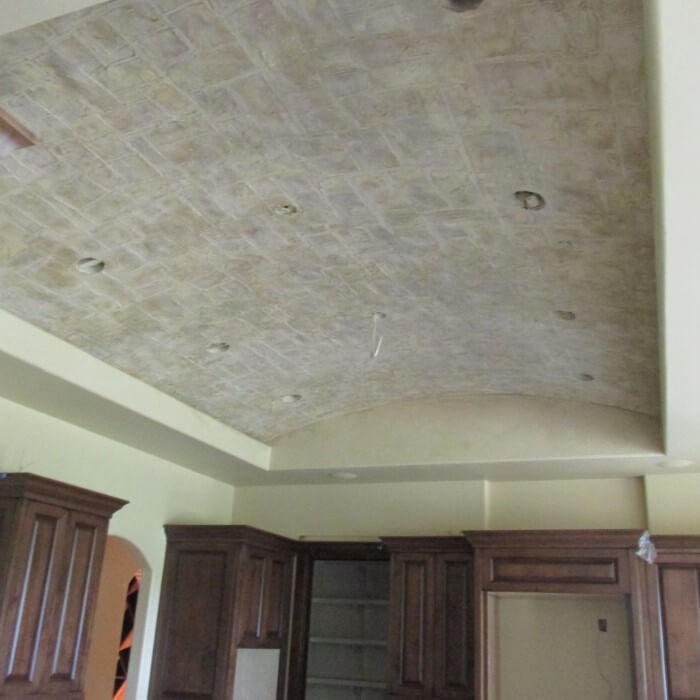 Stone Ceiling / Drywall Texture and Stucco